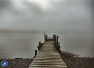 Jetty into Misty Coniston Water