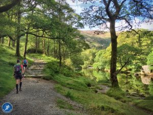 Running Beside River at Grange in Borrowdale
