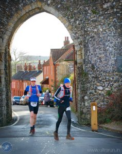 Giles and Chris Arriving at Castle Acre Checkpoint