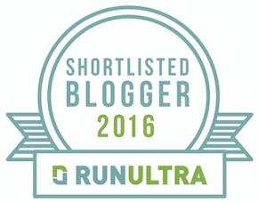 Shortlisted for RunUltra Blogger Awards 2016