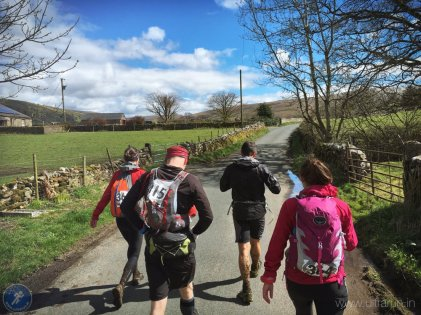 The sun is out and clothes are coming off as we leave Dent (CP8)