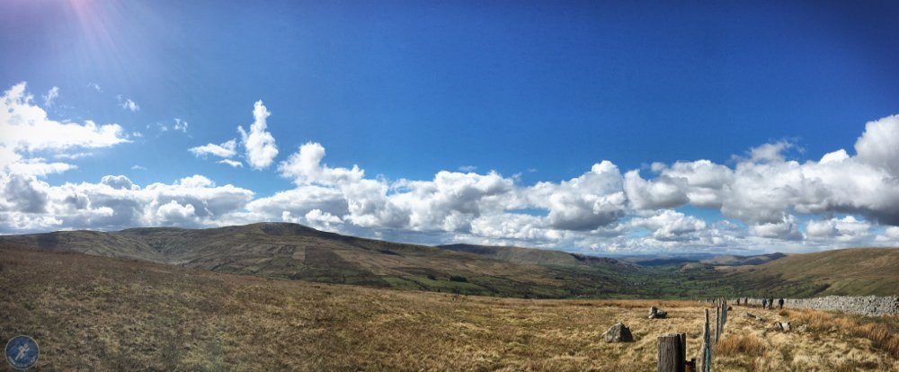 Clearing skies on the climb towards Blea Moor and checkpoint 9