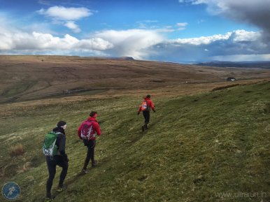 Approaching checkpoint 12 with Dodd Fell (CP14) beyond