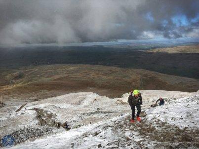 Wintery scenes on the summit slopes ofIngleborough