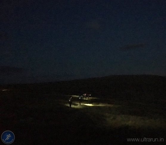 Departing Middle Tongue and heading into the night