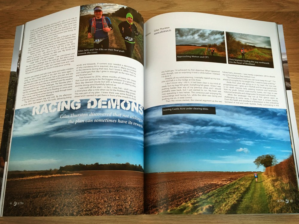 Racing Demons: My Peddars Way Article in Issue 5 of Ultra