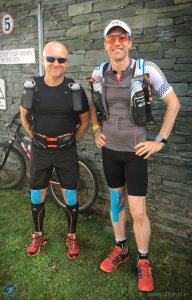 John and Giles ready and raring to go in Coniston