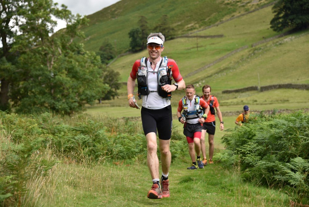Giles running up Fusedale with Andy and Henry behind. Photo courtesy of SportsSunday