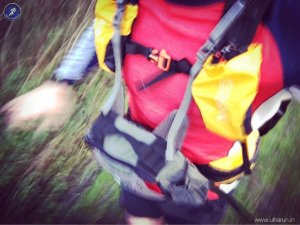 Running with Front Pack