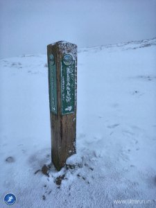 At the summit of Mill Hill and heading onto Snakes Pass and Bleaklow