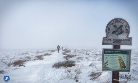 Heading up into the cloud and onto Bleaklow