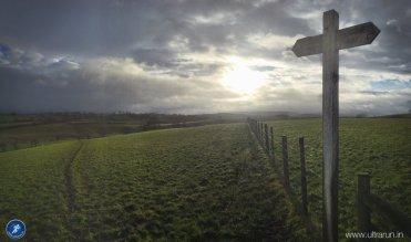 Last light in the fields around Gargrave