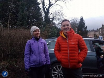 Friendly faces as Andy and Rachel make a surprise appearance at Gargrave. Photo courtesy of John Figiel.