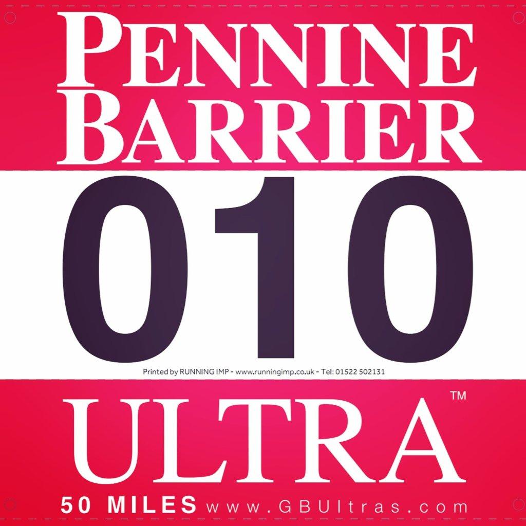 My Pennine Barrier Race Number