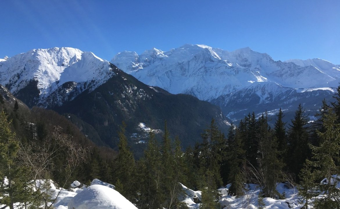 Mont Blanc Massif from Lac Vert