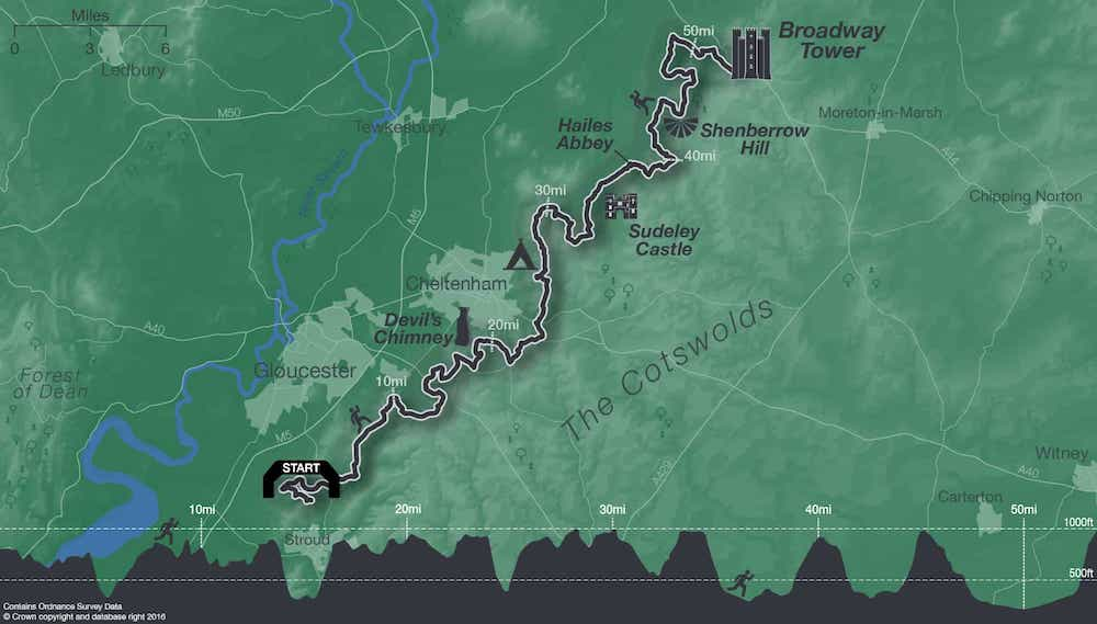 2018 route for Heineken Race to The Tower