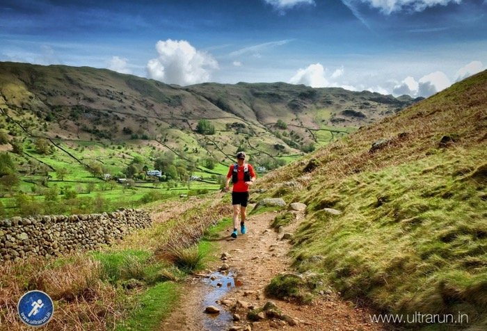 Giles Running in The Langdale Valley
