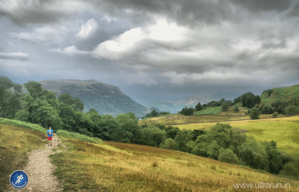 First Views of Ullswater as Rain Clouds Gather