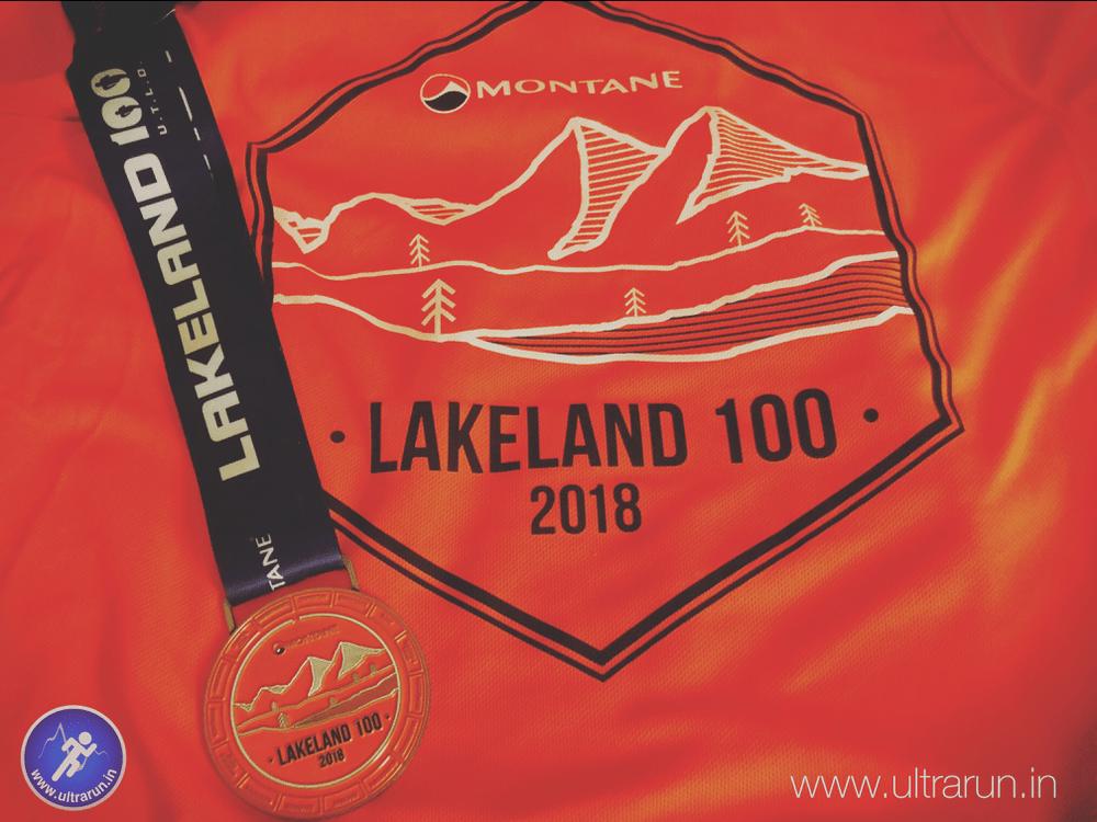 2018 Lakeland 100 Medal and T-Shirt