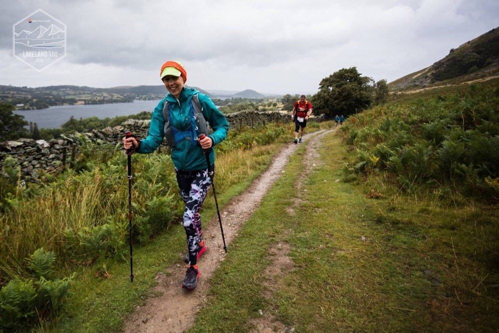 Lea Running the 2018 Lakeland 50