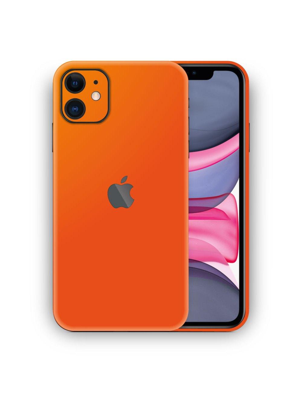 Apple iPhone 11 MATTE ORANGE Vinyl Skin