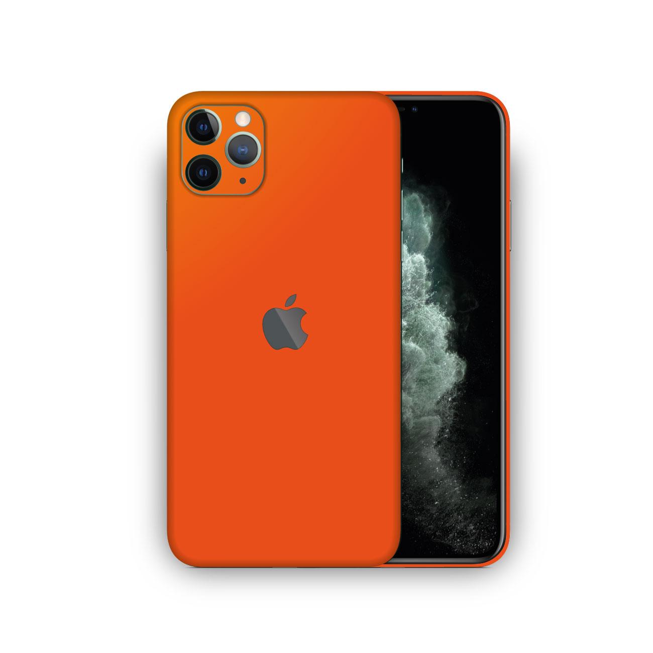 Apple iPhone 11 Pro Max MATTE ORANGE Skin Vinyl Wrap