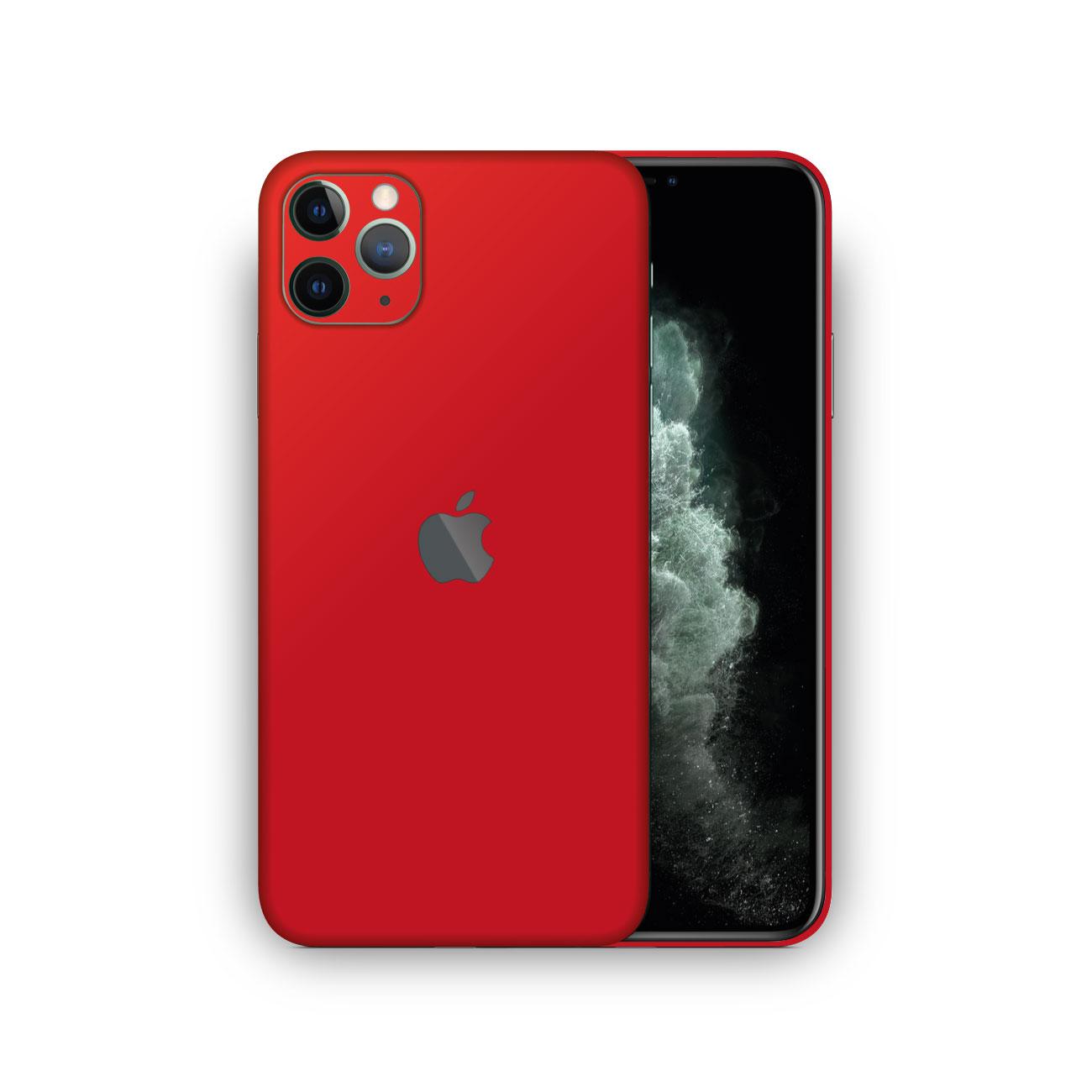 Apple iPhone 11 Pro Max MATTE RED Skin Vinyl Wrap