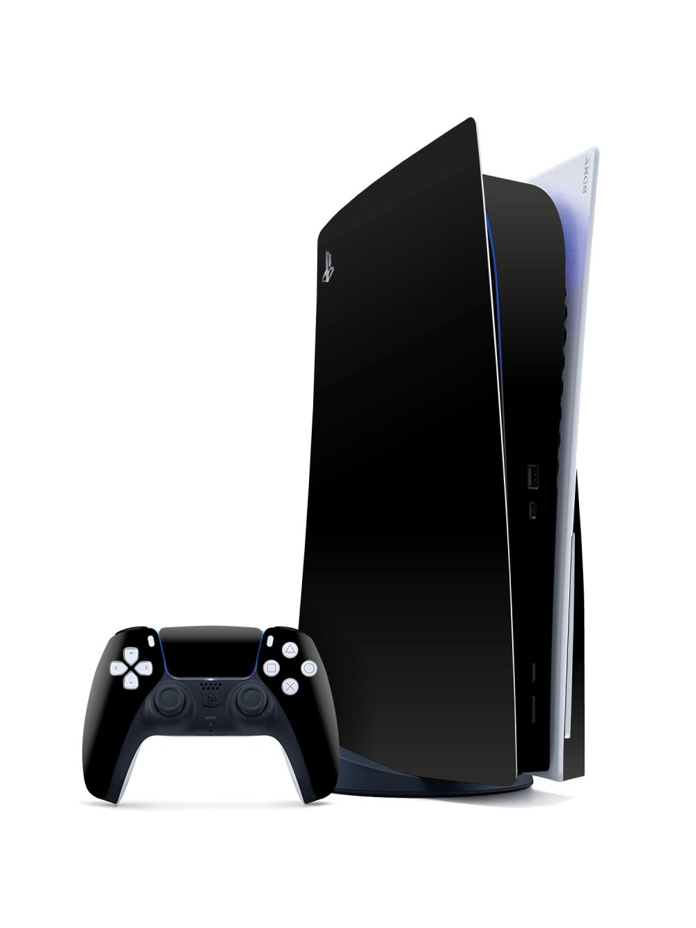 Black Matt Sony PS5 Skin Matte Series