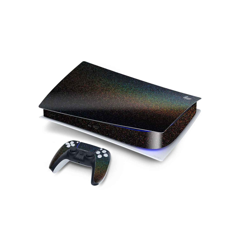 Glossy Cosmic Morpheus Black Sony PS5 Digital Edition Vinyl Skin Wrap