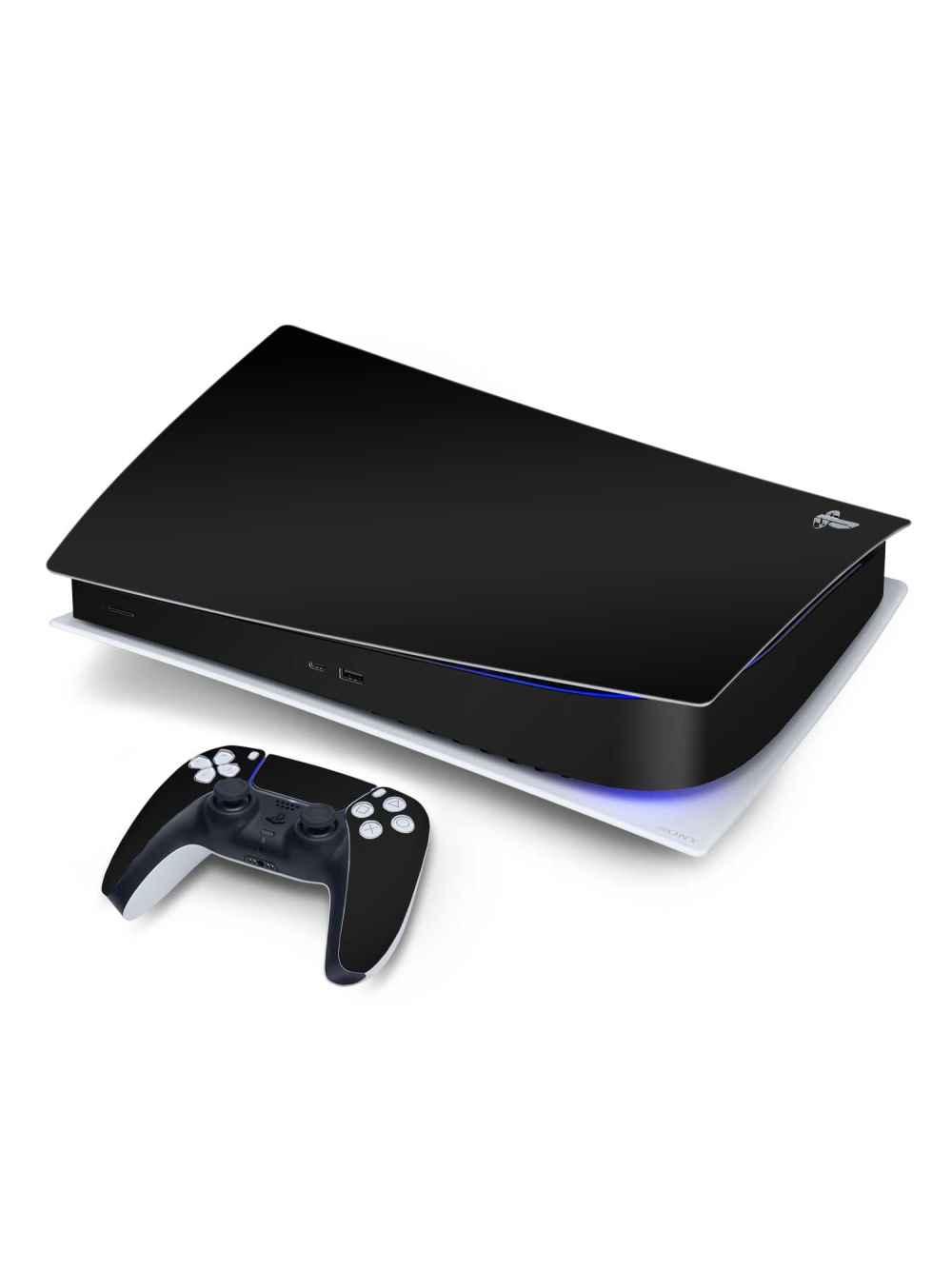 Matte Black Sony PS5 Digital Edition Vinyl Skin Wrap