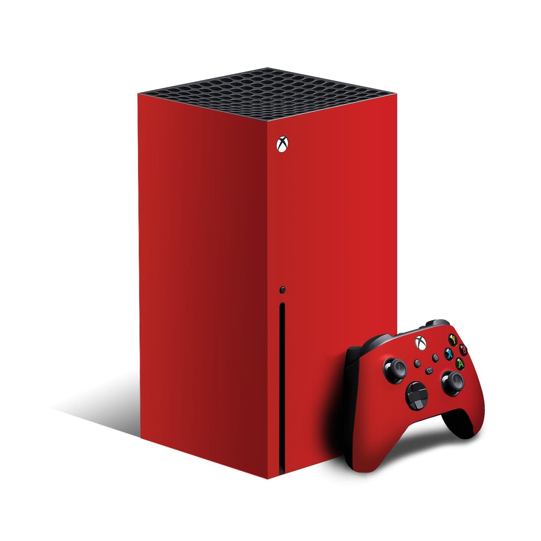 Xbox Series X Matt Vinyl Skin Wrap Red