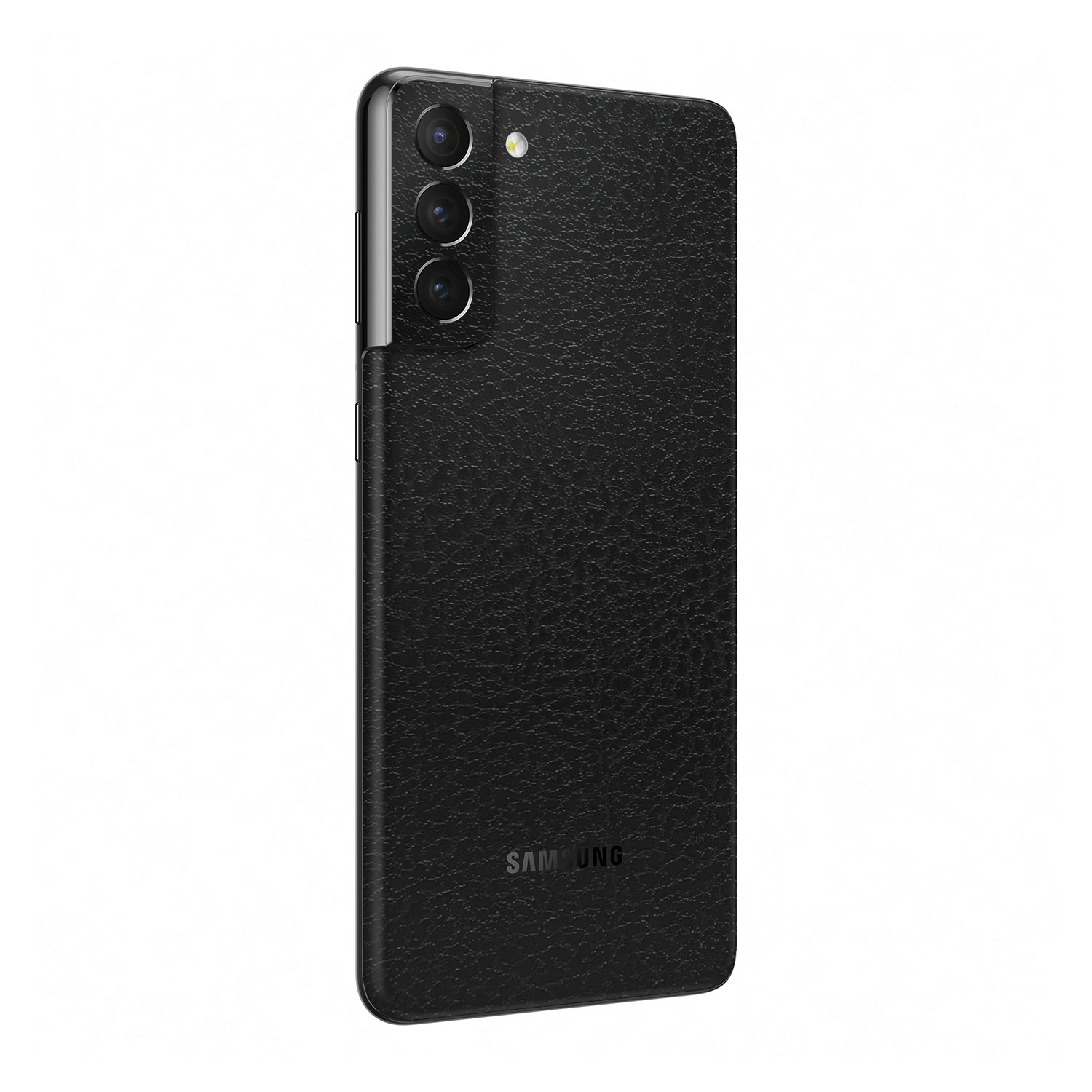 3M Textured Black Leather Skin For Samsung Galaxy S21 Plus