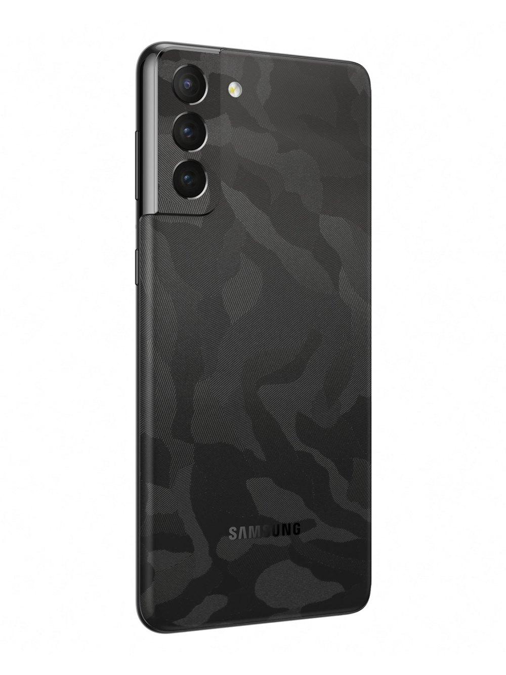 3M Black Camo Vinyl Skin Wrap for Samsung Galaxy S21 Plus