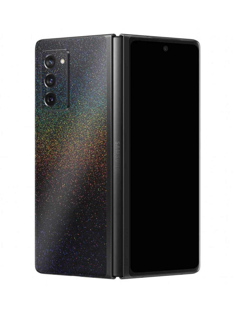 Gloss Cosmic Morpheus Black Vinyl Skin Wrap for Samsung Galaxy Z Fold2 5G