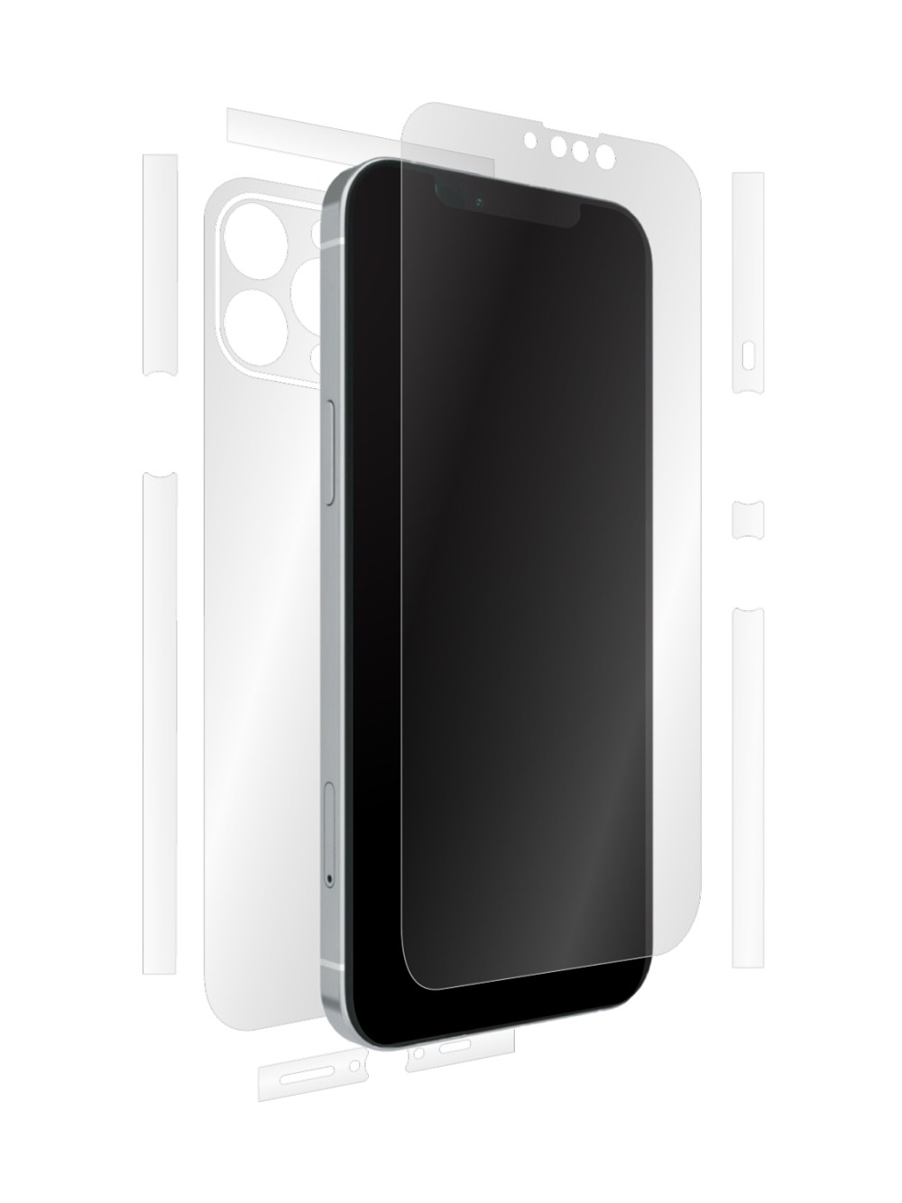 Full-body clear skin for iPhone 13 Max