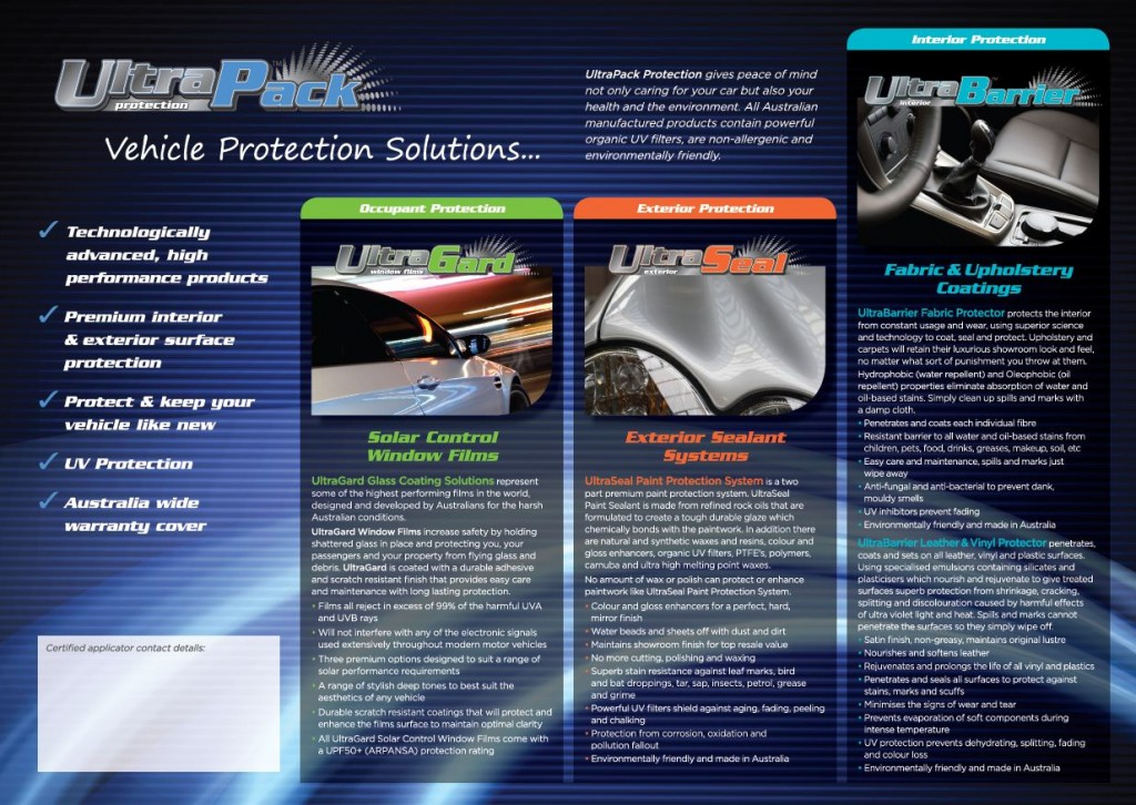 Ultra Pack Advanced Vehicle Protection