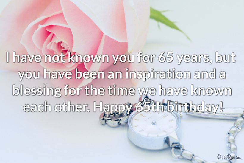 25 Happy 65th Birthday Messages And Quotes Ultra Wishes