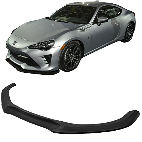 Front Bumper Lip Fits 2017-2018 Toyota 86 FRS | GT Style Black PU Front Lip Finisher Under Chin Spoiler Add On By IKON MOTORSPORTS – Ultra Xperieno