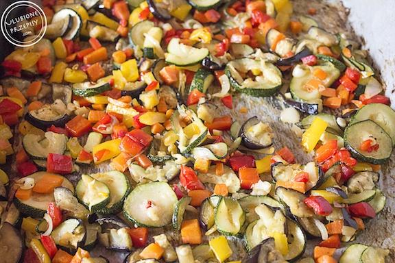 Lasagne z pieczonymi warzywami