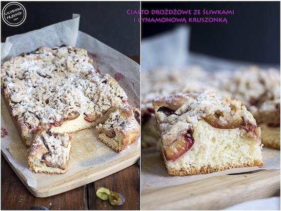Ciasto drożdżowe ze śliwkami i cynamonową kruszonką