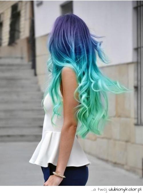 Obrazek Kolorowe Wosy Pastele Kolor Super Sweet