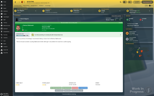 Football Manager 2018 - Scouting