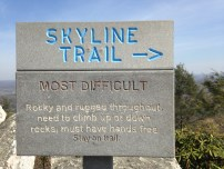Marking the way to the Skyline Trail