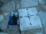 My gear outside Madison Spring Hut