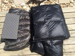 My sleep insulation: CCF Pad, Down Underquilt, and Down Top Quilt