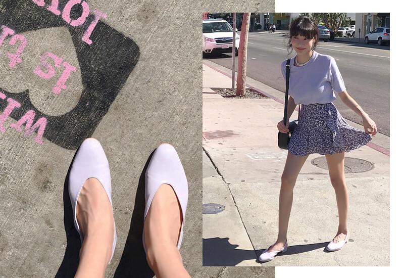 韓国ファッション通販 MOCO BLING(モコブリング)バックストラップアーモンドトゥパンプス