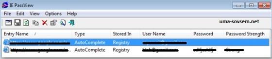 Как посмотреть пароли в Internet Explorer