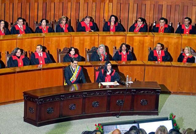 El Tribunal Supremo de Justicia ha avalado muchos de los argumentos dados por el Ejecutivo en su enfrentamiento con la Asamblea Nacional. Foto: Cortesía TSJ