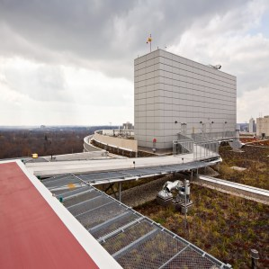 Rooftop Heliport Transport Walkway