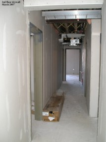 2nd floor drywall